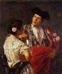 offering the panel to the bullfighter by mary cassatt painting