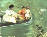 on the water by mary cassatt painting