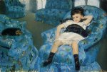 portrait paintings - portrait of a little girl by mary cassatt