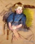 portrait of a young girl simone by mary cassatt painting