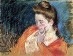 portrait of a young woman by mary cassatt painting