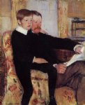 portrait paintings - portrait of alexander j. cassat and his son robert kelso cassatt by mary cassatt