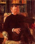 portrait paintings - portrait of alexander j. cassatt ii by mary cassatt