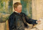 portrait paintings - portrait of alexander j. cassatt by mary cassatt