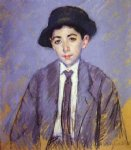 portrait paintings - portrait of charles dikran kelekian at age 12 by mary cassatt
