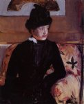 portrait paintings - portrait of madame j by mary cassatt
