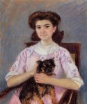 portrait paintings - portrait of marie by mary cassatt