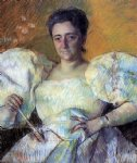 portrait paintings - portrait of mrs. h. o. hevemeyer by mary cassatt