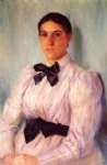 portrait paintings - portrait of mrs. william harrison by mary cassatt