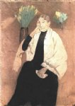 portrait paintings - portrait of the artist s mother by mary cassatt