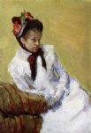 portrait paintings - portrait of the artist by mary cassatt