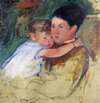 sketch of anne and her nurse by mary cassatt painting