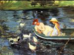 summertime 2 by mary cassatt painting
