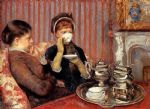 mary cassatt tea painting