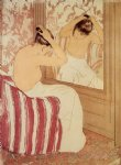 mary cassatt the coiffure study painting
