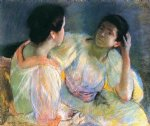 mary cassatt the conversation painting