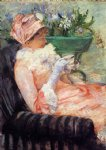 mary cassatt the cup of tea ii painting