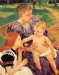 mary cassatt the family painting