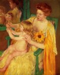 mary cassatt the mirror painting