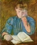 mary cassatt the pensive reader painting