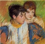 mary cassatt the two sisters painting