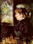 the visitor by mary cassatt painting