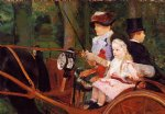 mary cassatt woman and child driving painting