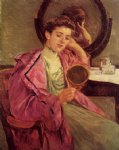 mary cassatt woman at her toilette painting
