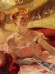 mary cassatt woman in a loge painting