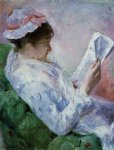 woman reading by mary cassatt painting