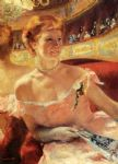 mary cassatt woman with a pearl necklace in a loge paintings