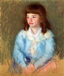 young boy in blue by mary cassatt painting