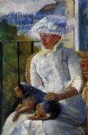 young girl at a window by mary cassatt painting