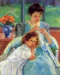 mary cassatt young mother sewing 1902 paintings