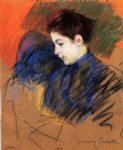 young woman reflecting by mary cassatt painting