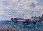 maxime maufra reentering port at douarnenez painting