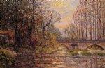maxime maufra sunset on the loir lavardin painting
