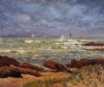maxime maufra the barges lighthouse painting