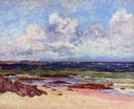the coast at fort penthievre quiberon peninsula by maxime maufra painting