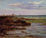 the coastline in brittany by maxime maufra painting