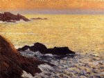 the golden sea by maxime maufra painting