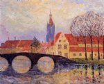 the leguenay bridge bruges by maxime maufra painting