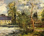 maxime maufra the ponce paper factory on the edge of the sathe woods paintings