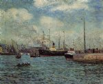 the port of havre by maxime maufra painting