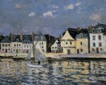 the port of saint goustan brittany by maxime maufra painting