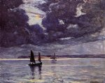 the return of the fishing boats by maxime maufra painting
