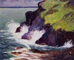 the three cliffs by maxime maufra painting