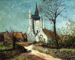the village and chapel of sainte by maxime maufra painting