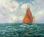 tuna boat at sea by maxime maufra painting