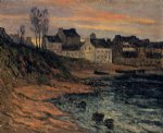 twilight winter douarnenez by maxime maufra painting